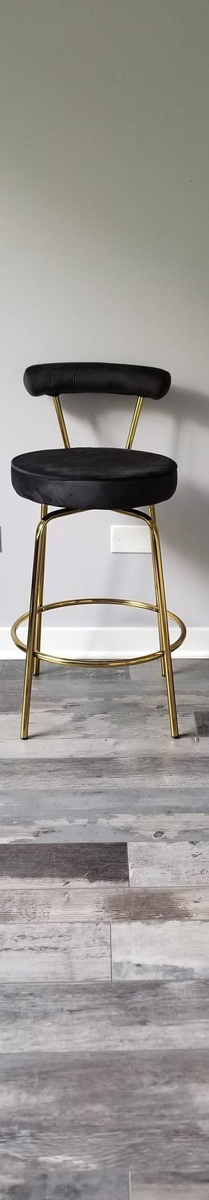 Glam Counter Stool in Gold Metal and Black Velvet for Sale in Elgin, IL