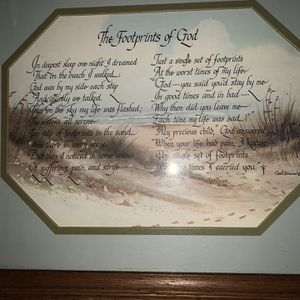 The foot prints of God Picture Frame for Sale in Clearwater, FL