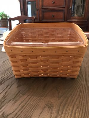 Longaberger Card Keeper Basket with divided protector for Sale in Parkville, MD