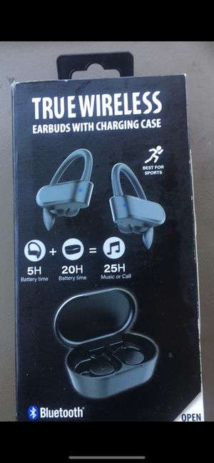 bluetooth headphones with charging case for Sale in Gilbert, AZ