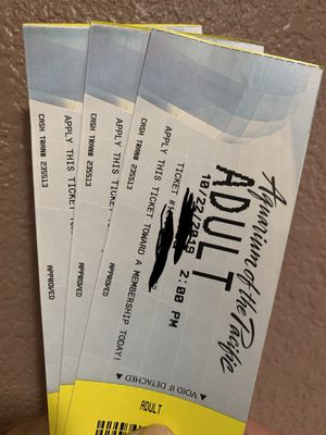 3 aquarium tickets for adults for Sale in Los Angeles, CA