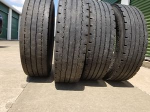 (4) 275/80 R22.5 Trailer Tires for Sale in Grand Prairie, TX