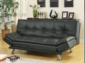 Brand New Black Leather Futon! for Sale in Chicago, IL