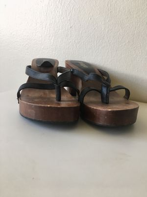 Completely wood sandals for Sale for sale  City of Orange, NJ
