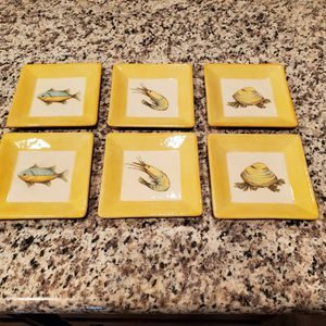 Williams Sonoma Verano Tile Tapas Plates Set of 6 for Sale in Milton, FL