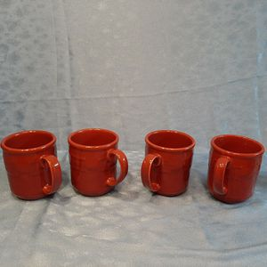 Longaberger Coffee Cups Mugs. Set Of 4 for Sale in Batavia, IL