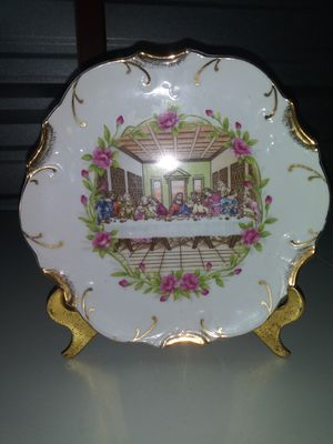 The Last Supper Decorative Plate 18k Gold Trim for Sale in Chicago, IL