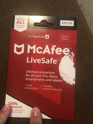 Mcafee 1 year subscription antivirus security for Sale in Fountain, CO