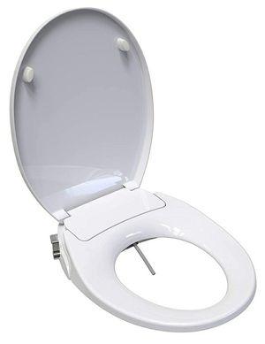Saniwise Toilet Seat, ROUND Bidet Toilet Seat, Soft Closed Round Toilet Seat, Easy DIY Installation for Sale in Corona, CA