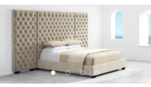 Tufted King Bed frame, mattress not included for sale for Sale in Brooklyn Center, MN