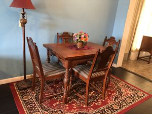 Antique Table with 4 Chairs and Buffet Hutch for Sale in Tamarac, FL
