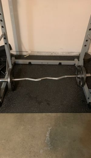 Olympic weight set with curl bar for Sale in Baldwin Park, CA