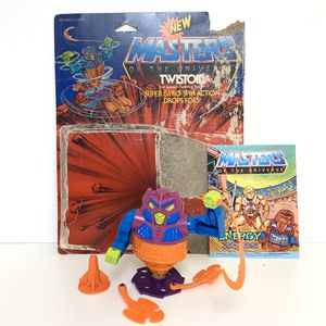 Vintage Heman and the Masters of the Universe Twistoid Action Figure, Malaysia 1986 MOTU Toy With Comic And Card Back. for Sale in Elizabethtown, PA