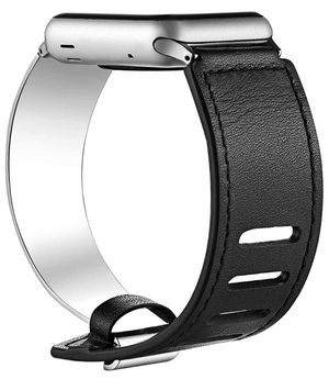 Compatible for Apple Watch Bands 38mm 40mm 42mm 44mm, Leather Stainless Steel Cuff Bracelet Strap Compatible for Iwatch Series 4 3 2 1 Women Girl Fem for Sale in Orlando, FL
