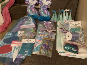 Mermaid tail birthday decorations for Sale in Carlsbad, CA