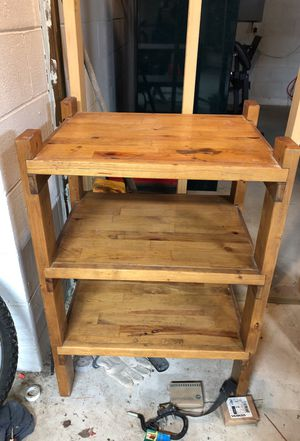 Hand made solid wood tv stand with shelves for Sale in Powhatan, VA