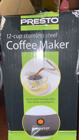 Presto 12 cup stainless steel coffee maker for Sale in St. Louis, MO