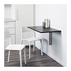 Wall-mounted drop leaf table, brown-black for Sale in High Point, NC
