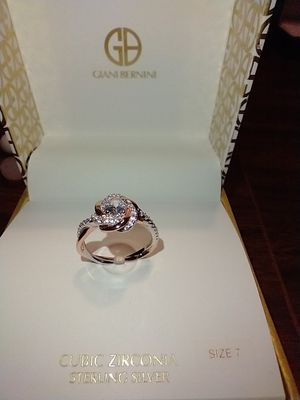 GIANI BERNINI Sterling Silver Ring w/ Cubic Zirconia for Sale in South Pasadena, CA