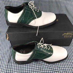 Allen Edmonds Jack Nicklaus Golf Shoes Green Croc Men's Size 9.5 for Sale in Anchorage, AK