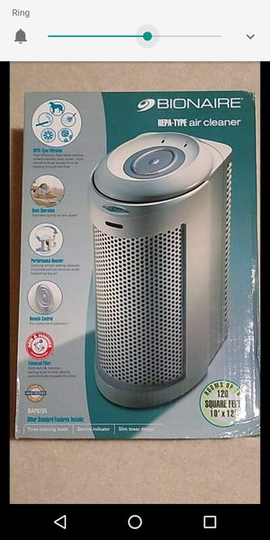 Bionaire air purifier for rooms upto 200sq ft for Sale in Fairfax, VA