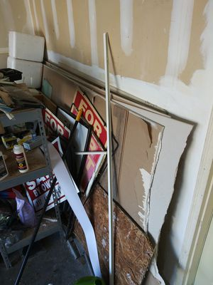 Drywall and 2 metal shelves for Sale in Brownsburg, IN
