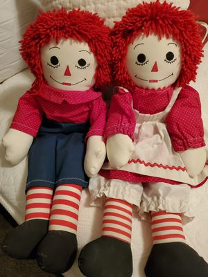 GENUINE Vintage Raggedy Ann and Andy Doll Set for Sale in Chandler, AZ