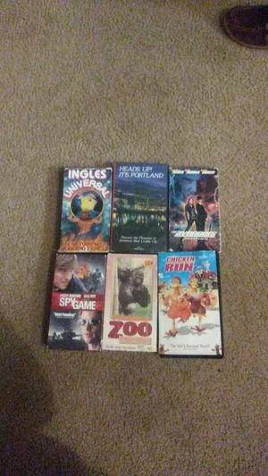6 video tapes for Sale in Hillsboro, OR