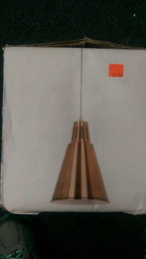 Copper metal pendant light fixture for Sale in Riverside, CA