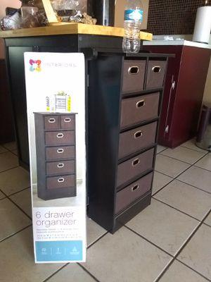 13.5 in x 31.5 New 6 drawer organizer original price 45 i give un 30 price firm cajonera nueva en caja precio de 45 lo doy en 30 precio firme for Sale in Phoenix, AZ