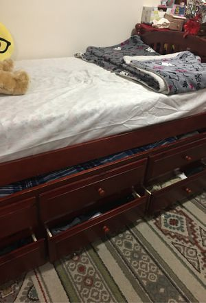 Bunk bed with new mattress & storage for Sale in Nashville, TN