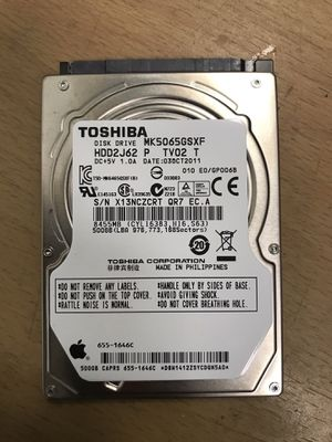 "Toshiba 500GB MacBook And Laptop 2.5"" Hard Drive Storage for Sale in Glendale, CA"
