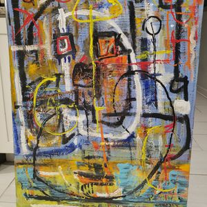My Original Abstract Acrylic Painting On Canvas for Sale in Chicago, IL