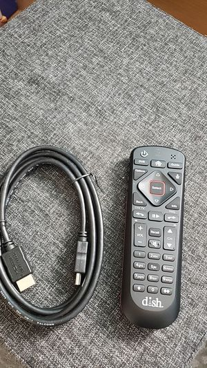 Universal Dish Remote & HDMI Cable for Sale in Richmond, VA