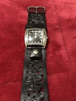 FOSSIL dark brown leather Watch for Sale in Matthews,  NC