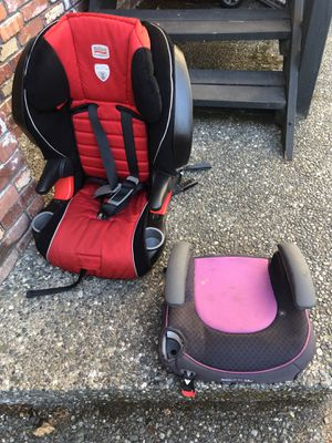 Red car seat and one booster- FREE for Sale in Edmonds, WA