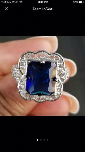 925 sterling silver plated blue ring jewelry for Sale in Silver Spring, MD