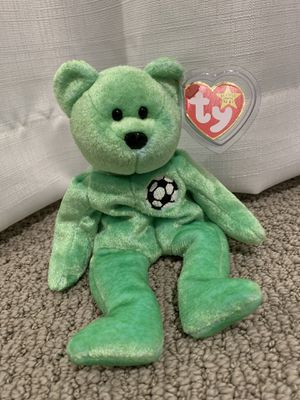 "Ty beanie baby ""kicks"" soccer bear for Sale in Menifee, CA"