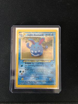 Light Azumarill Holo Pokemon card for Sale in Garfield, NJ