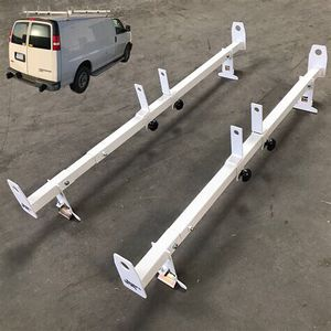 New in box adjustable 2 bars rain gutter mount ladder rack with ladder stopper for Sale in Whittier, CA