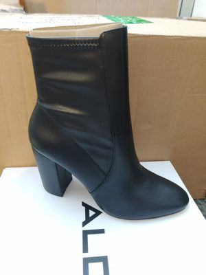 Brand New-ALDO black leather ankle boot for Sale in Chandler, AZ