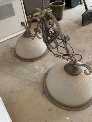 Kitchen island & over the dinette light fixtures for Sale in Naperville, IL