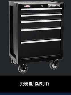Black Craftsman 5 Drawer Tool Box ( Missing Key ) ( New) for Sale in Nellis Air Force Base,  NV