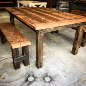Custom made artisan tables and benches from a local artist. Financing available for Sale in Fort Worth, TX