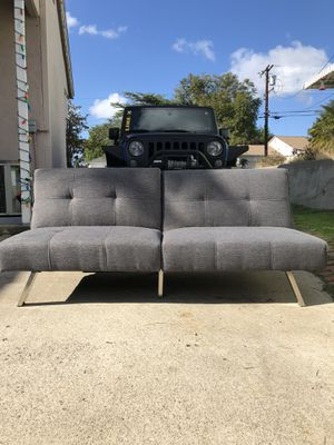 Modern Futon Couch, Gray for Sale in San Diego, CA