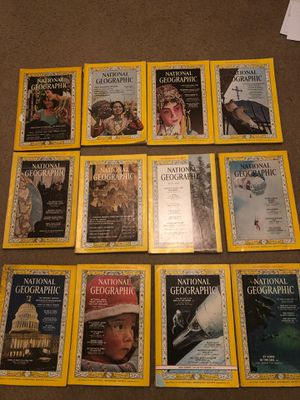1964 National Geographic Magazines (all12) for Sale in Winston-Salem, NC