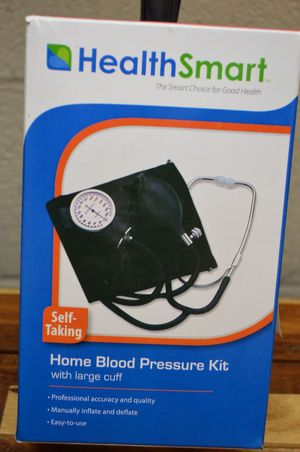 Health smart home blood pressure kit manual inflate for Sale in Walnut, CA