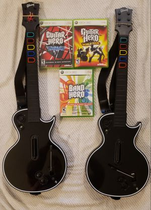 Wireless black xbox 360 guitars for Sale in Portland, OR