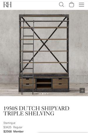 1950s Dutch Shipyard Shelving from Restoration Hardware for Sale in Huntington Beach, CA