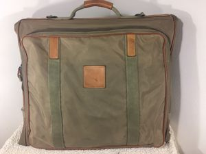 VINTAGE CHRISTIAN DIOR BEIGE THICK CANVAS AND LEATHER GARMENT BAG for Sale in Downers Grove, IL